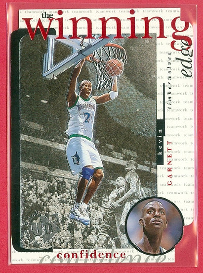 """Kevin Garnett"" THE WINNING EDGE DIE-CUT CARD #W10"