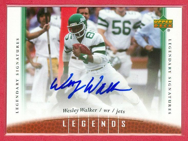 """Wesley Walker"" LEGENDS AUTOGRAPH CHASE CARD #33"