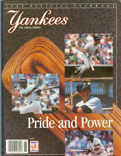 1988 NEW YORK YANKEES OFFICIAL YEARBOOK -MATTINGLY