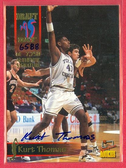 """Kurt Thomas"" SP RC AUTOGRAPH CARD #'ed 6588/7750"