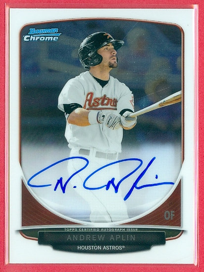 """Andrew Aplin"" SP ROOKIE AUTOGRAPH CHROME CARD"