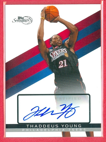 """Thaddeus Young"" SP AUTOGRAPH CARD #'ed 2096/5775"