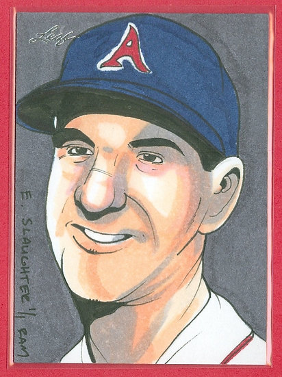 """Enos Slaughter"" LEAF SSP 1/1 SKETCH ARTWORK CARD"