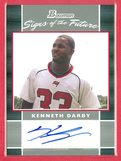 """Kenneth Darby"" BOWMAN SP AUTOGRAPH RC CHASE CARD"