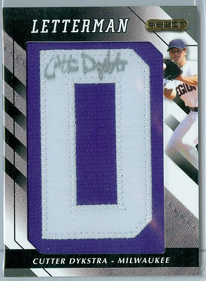 """""""Cutter Dykstra"""" AUTHENTIC AUTOGRAPH PATCH RC CARD"""