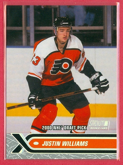 """Justin Williams"" TSC NHL DRAFT PICK RC CARD #245"