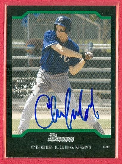 """Chris Lubanski"" SP ROOKIE AUTOGRAPH CHASE CARD"