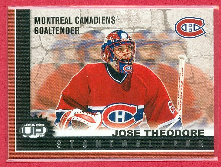 """""""Jose Theodore"""" STONEWALLERS CHASE CARD #6"""