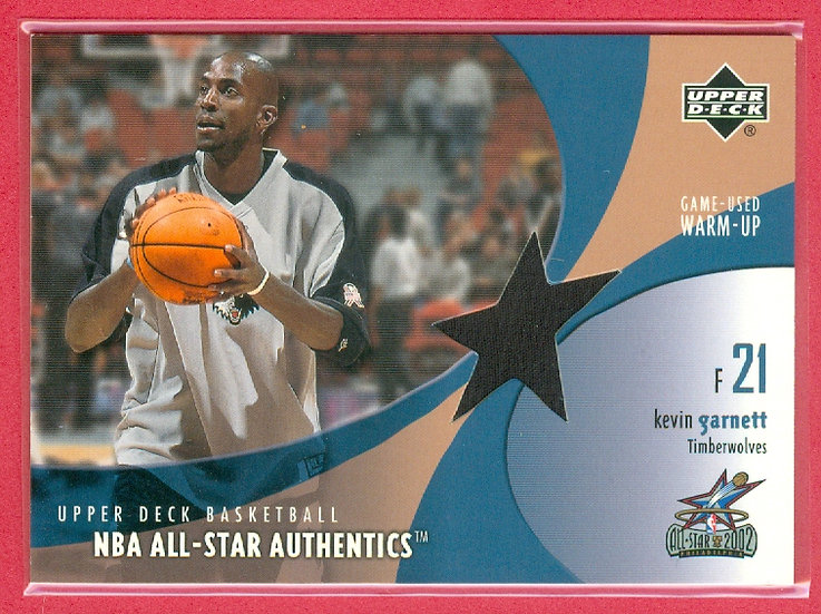 """Kevin Garnett"" SP ALL-STAR GM WARM-UP CARD #KG-AW"