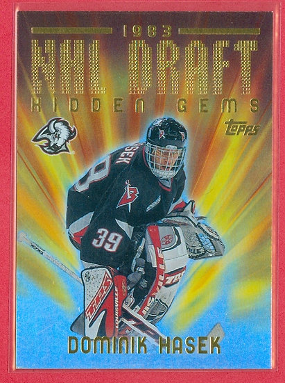 Dominik Hasek DRAFT HIDDEN GEMS CHASE CARD #NHLD12