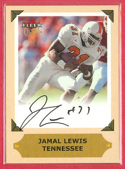 Jamal Lewis FLEER ULTRA AUTOGRAPH CHASE CARD #NNO