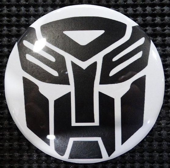 """TRANSFORMERS/AUTOBOTS"" EMBLEM/LOGO POP CULTURE 3"" PINBACK/PIN-BACK COMIC BUTTON"