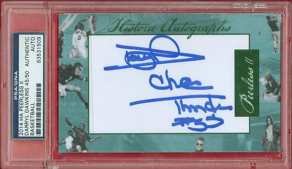 Darryl Dawkins HOF SP CUT SIGNATURE CARD #ed 45/50