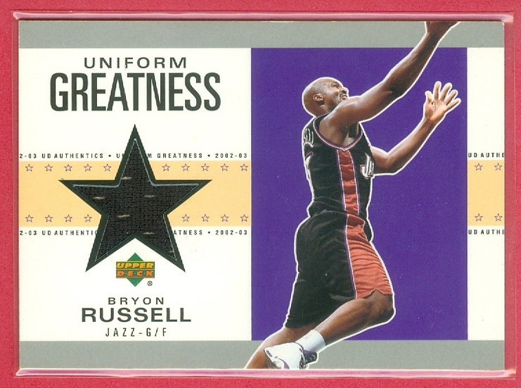 """""""Bryon Russell"""" SP GAME-USED SHORTS RELIC CARD"""