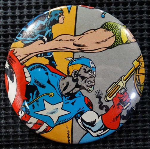 """DEATHLOK as CAPTAIN AMERICA"" POP CULTURE 3"" PINBACK/PIN-BACK COMIC"
