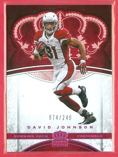 """David Johnson"" SP PARALLEL CHASE CARD #d 074/249"