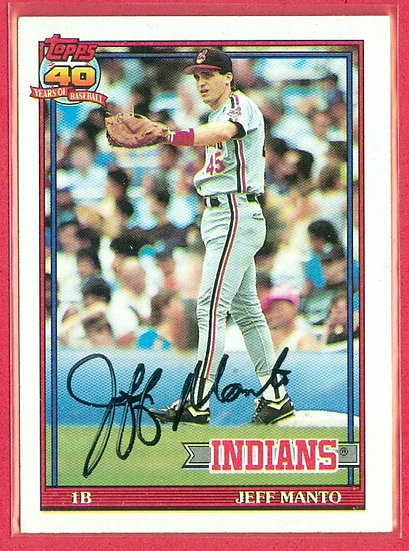 """""""Jeff Manto"""" IN PERSON/THROUGH MAIL AUTO RC CARD"""