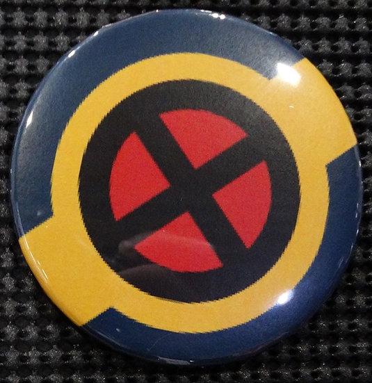 """X-MEN/X-FORCE"" EMBLEM/LOGO/ICON POP CULTURE 3"" PINBACK/PIN-BACK COMIC BUTTON"