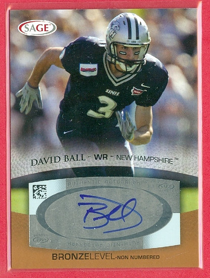 """David Ball"" SP BRONZE LEVEL RC AUTO CARD #A4"