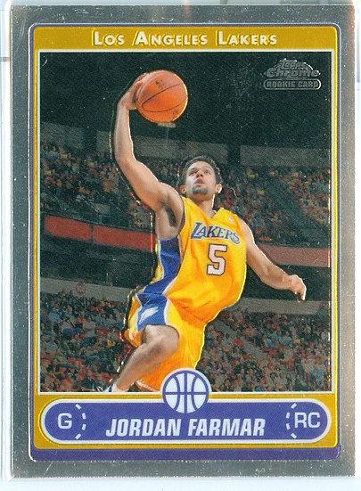 TOPPS CHROME Jordan Farmar ROOKIE/RC CARD #185
