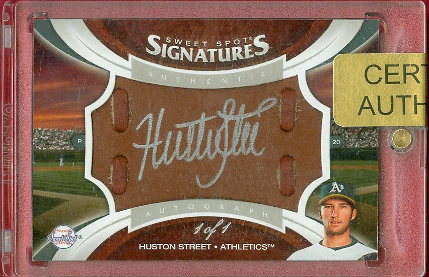 """Huston Street"" SSP AUTOGRAPH GLOVE CARD #d 1 of 1"