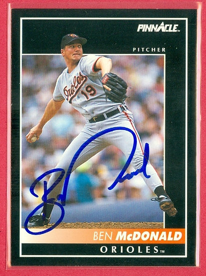Ben McDonald IN PERSON/THROUGH THE MAIL AUTO CARD