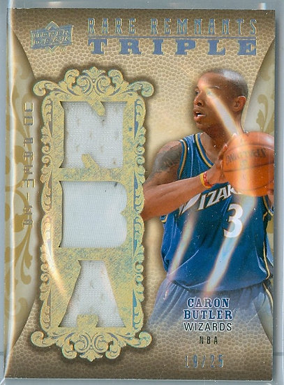 """Caron Butler"" SP TRIPLE RELIC CARD #d 19/25"