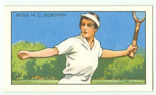 1935 CHAMPIONS Miss M.C. Scriven TOBACCO CARD #24