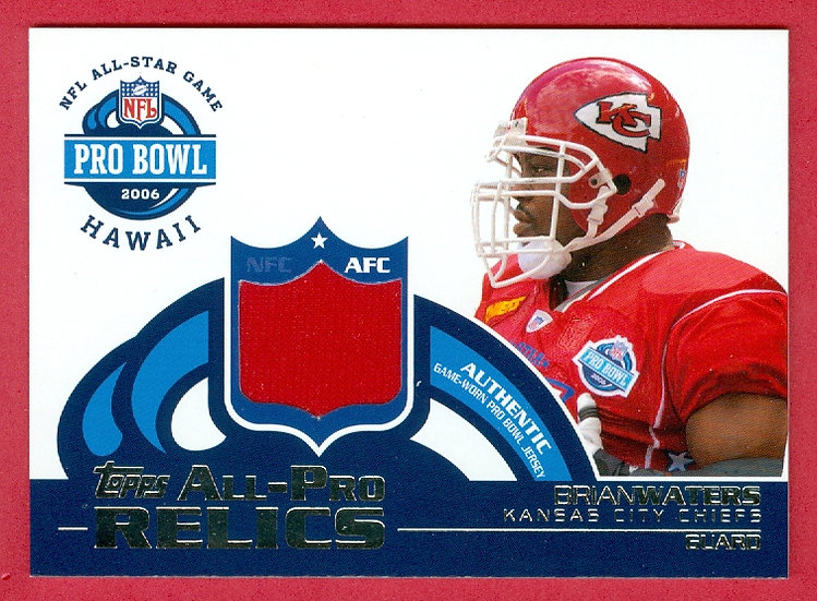 """Brian Waters"" ALL-PRO BOWL JERSEY CARD #AP-BW"