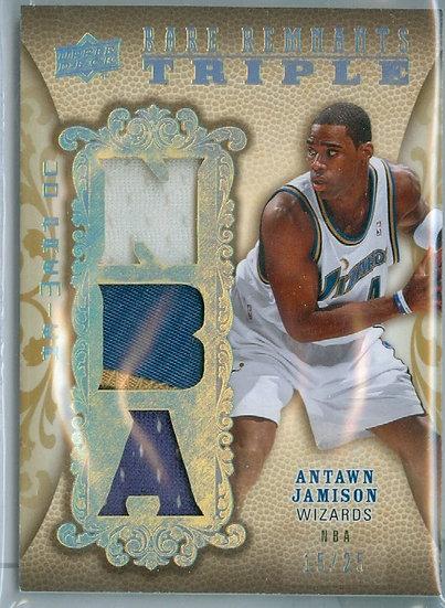 """Antawn Jamison"" SP TRIPLE RELIC CARD #d 15/25"