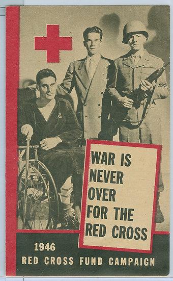 "RARE 1946 ""RED CROSS"" TRIPLE-FOLD WAR PAMPHLET"