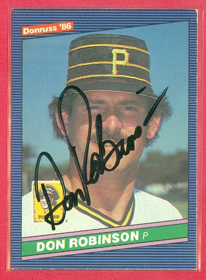 Don Robinson IN PERSON/THROUGH THE MAIL AUTO CARD