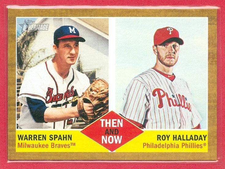 """""""Warren Spahn/Roy Halladay"""" SP CHASE CARD #TN-9"""
