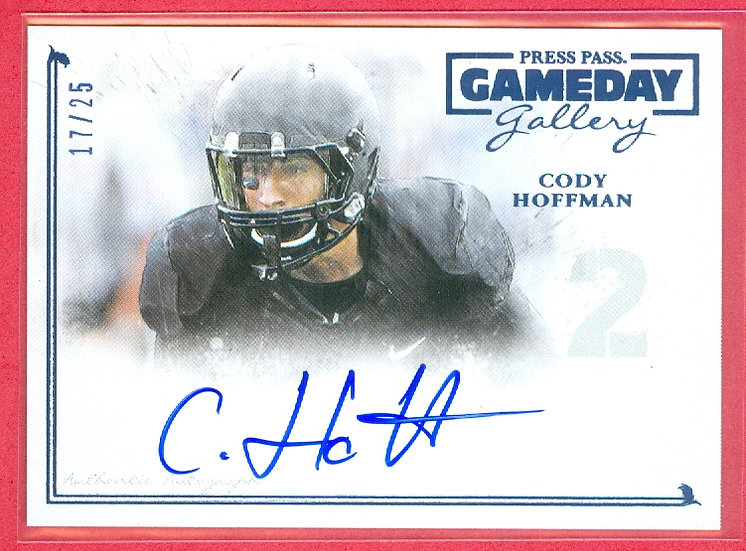 """Cody Hoffman"" SSP RC AUTOGRAPH CARD #'ed 17/25"