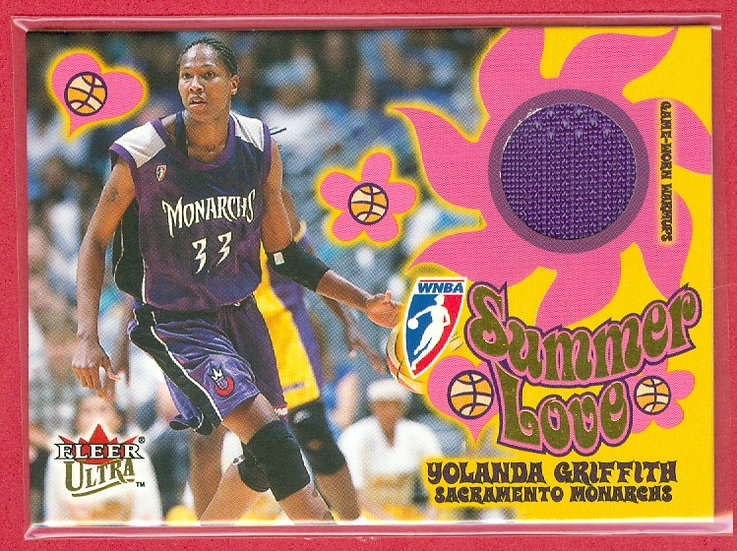 """Yolanda Griffith"" HOF/SP SUMMER LOVE JERSEY CARD"