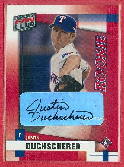 """""""Justin Duchscherer"""" DONRUSS SP RC AUTOGRAPH CARD"""