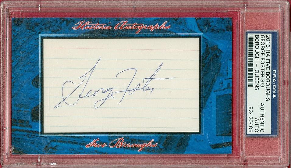 """George Foster"" SSP CUT SIGNATURE CARD #d 8/9"