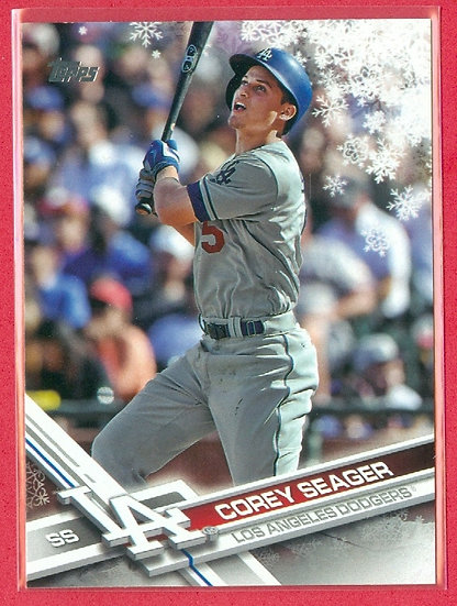 """Corey Seager"" 2017 TOPPS HOLIDAY CARD #HMW110"