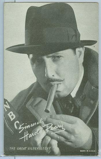 "1931-64 ""Harold Peary"" PENNY ARCADE EXHIBIT CARD"