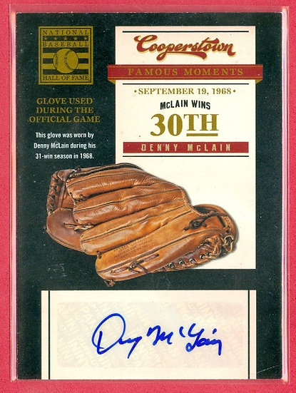 """Denny McLain"" COOPERSTOWN SP AUTOGRAPH CHASE CARD"