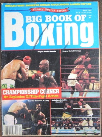 "1985 ""BIG BOOK OF BOXING"" MAGAZINE - HAGLER/HEARNS"