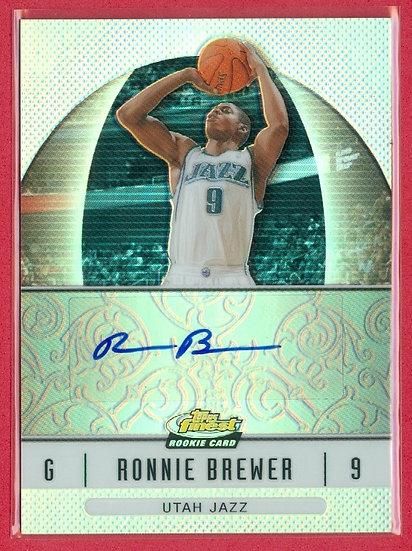 """""""Ronnie Brewer"""" SP RC CHROME REF AUTO CARD #56"""