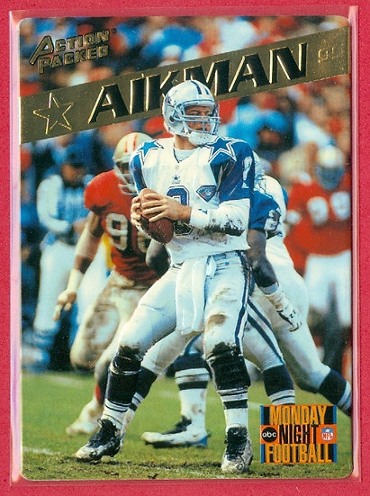 """Troy Aikman"" HOF 1995 ACTION PACKED PROMO CARD #3"