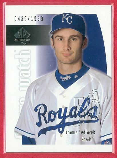 """Shawn Sedlacek"" 2002 RC CARD (#208) #d 0435/1999"