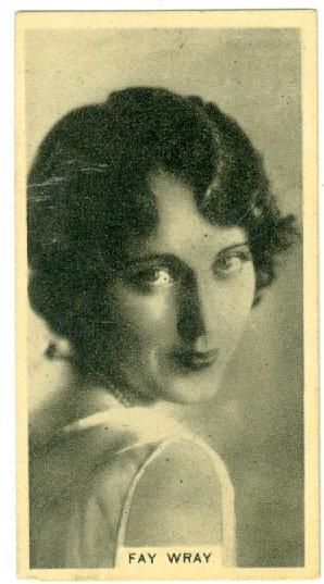 """RARE 1925 CINEMA STARS """"Fay Wray"""" TOBACCO CARD #5"""