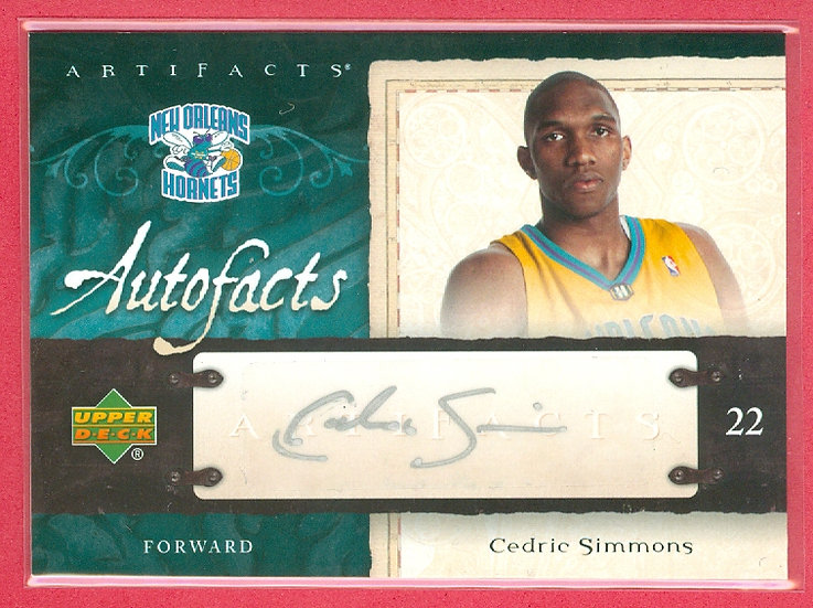 """Cedric Simmons"" SP ROOKIE AUTOGRAPH CHASE CARD"