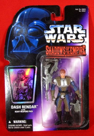 """Dash Rendar w/Weapons"" STAR WARS ACTION FIGURE"