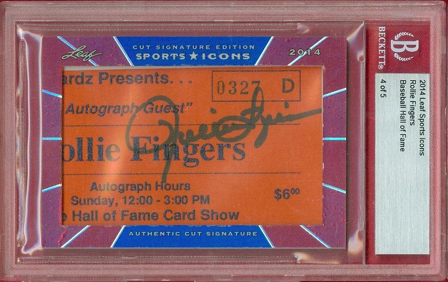 """Rollie Fingers"" SSP CUT SIGNATURE CARD #ed 4 of 5"