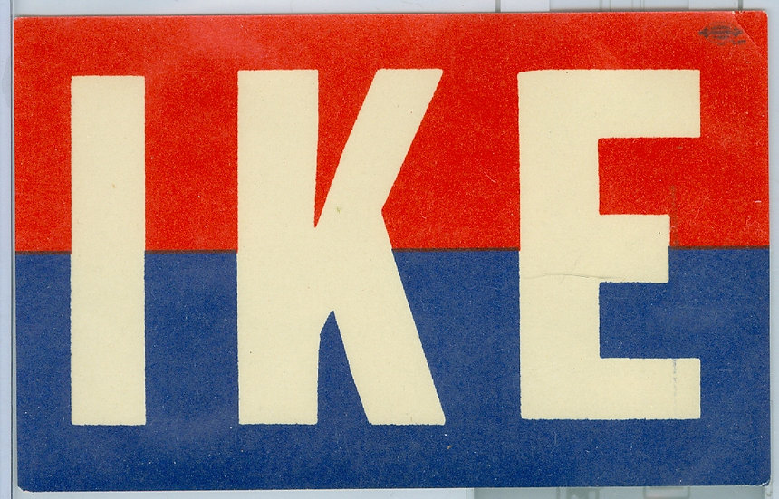 "Dwight D. Eisenhower ""IKE"" CAMPAIGN WINDOW DECAL"