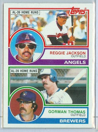 Reggie Jackson/Gorman Thomas SP LEADERS PROMO CARD
